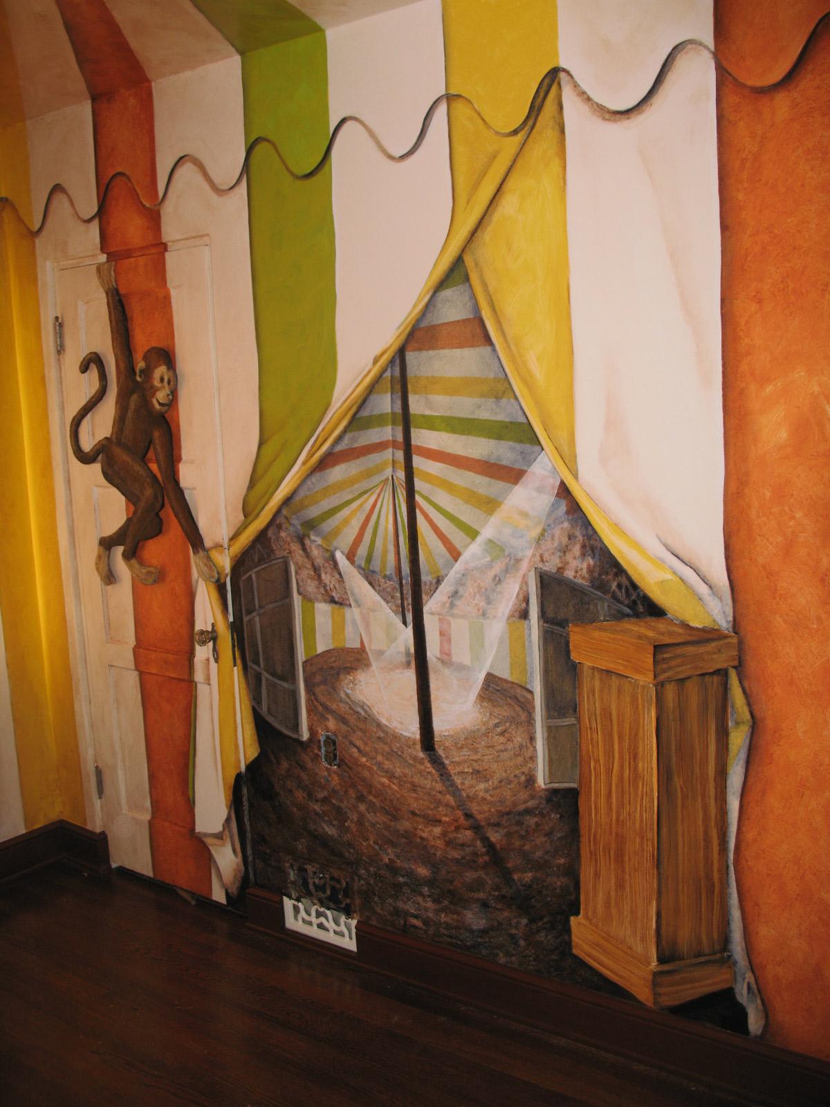 Falsas fachadas arquitectura y dise o pinterest for Circus wall mural