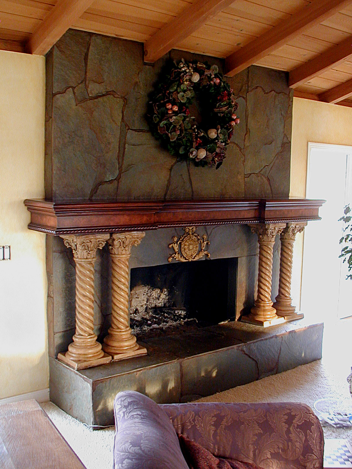 faux antique wood fireplace mantels faux antique wood fireplace
