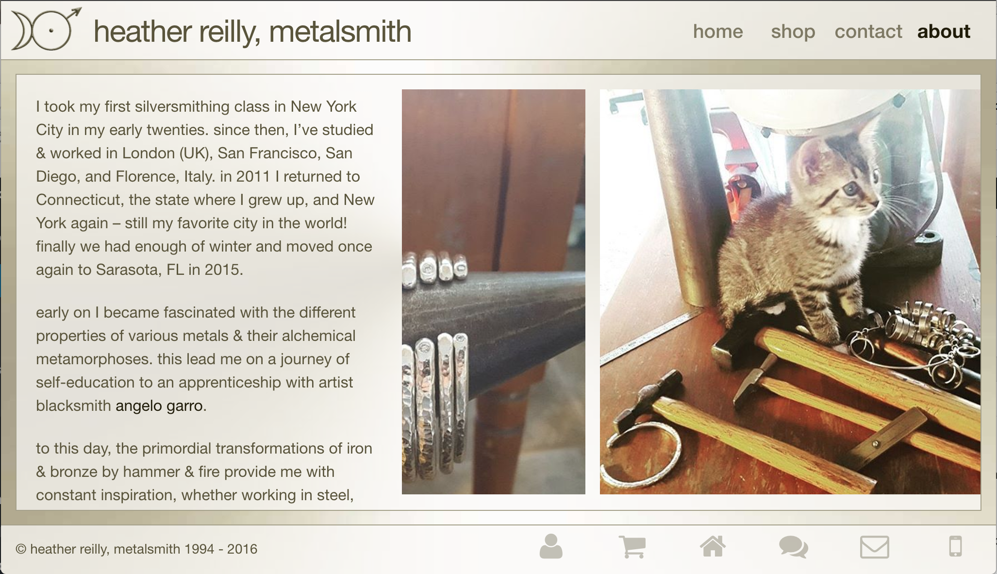 heather reilly, metalsmith