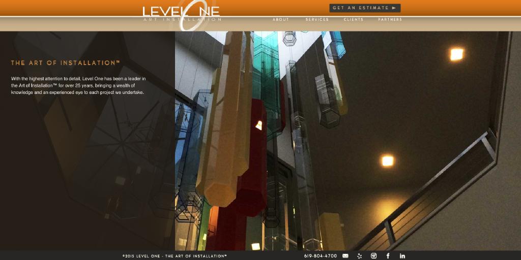 Level One Art Installation