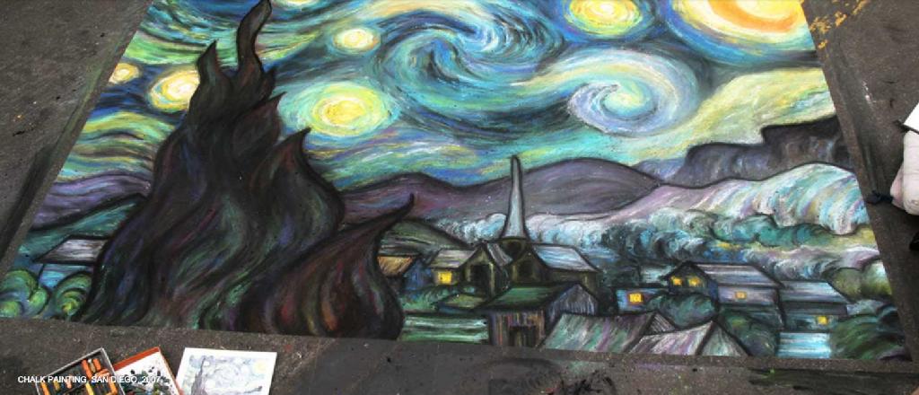 Street Painting – Van Gogh